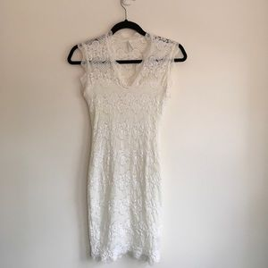 Nasty Gal White Lace Dress